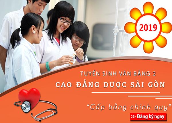 Đào tạo văn bằng 2 cao đẳng dược Sài Gòn năm 2019 cấp bằng chính quy