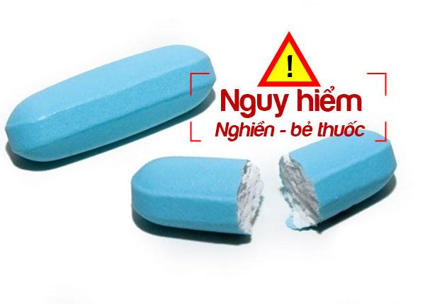 Nguy hiểm khi nghiền bẻ thuốc trước khi uống