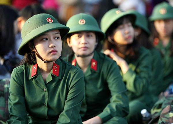 Một số trường quân đội chỉ tuyển 2 học viên nữ