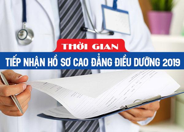 Thông tin thời gian nhận hồ sơ đăng ký học ngành điều dưỡng