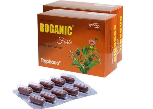 Thuốc boganic thường được sản xuất dưới dạng viên nang mềm