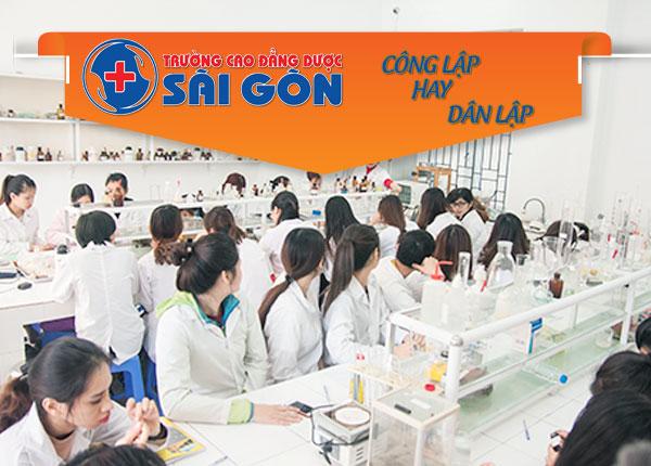 Trường cao đẳng Dược Sài Gòn là dân lập hay công lập?