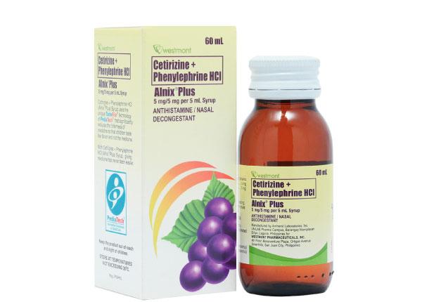 Thuốc Cetirizin dạng dung dịch