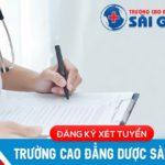 Hướng dẫn thông tin tuyển sinh Cao đẳng Dược Sài Gòn năm 2020
